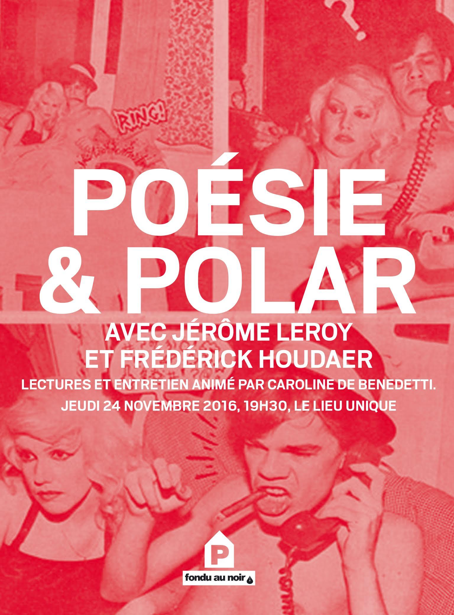 Poésie et polar avec Frédérick Houdaer et Jérôme Leroy