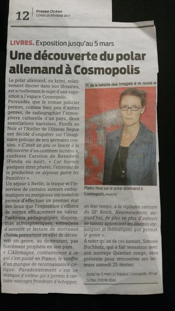 Krimi à Cosmopolis et dans la presse