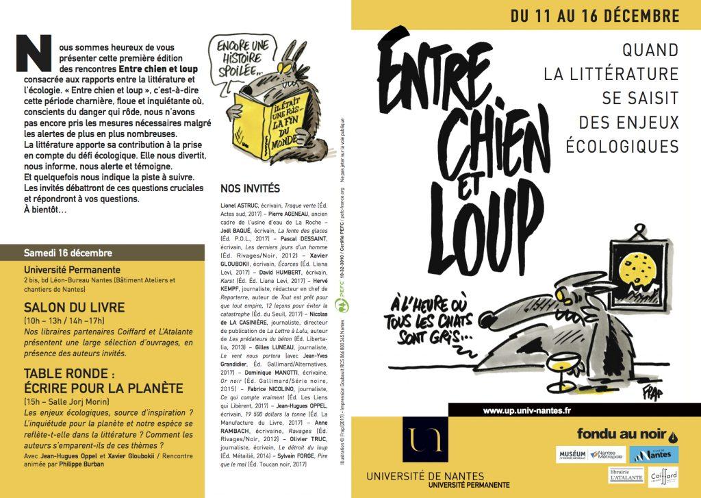 Entre Chien et loup, rencontres littéraires à Nantes