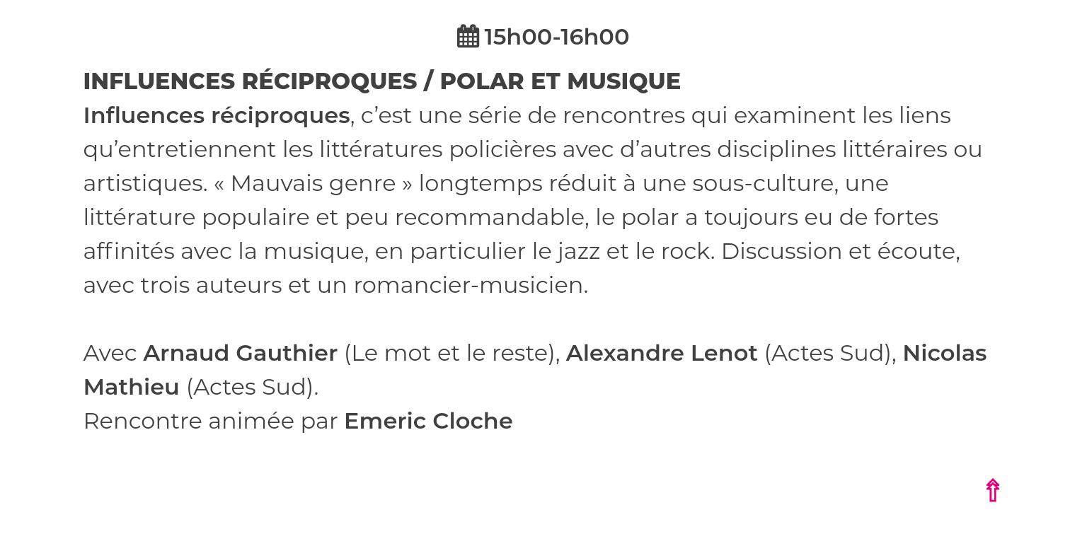Livre Paris : polar et musique