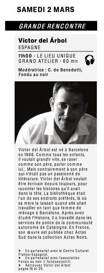 Atlantide, rencontre avec Victor del Arbol