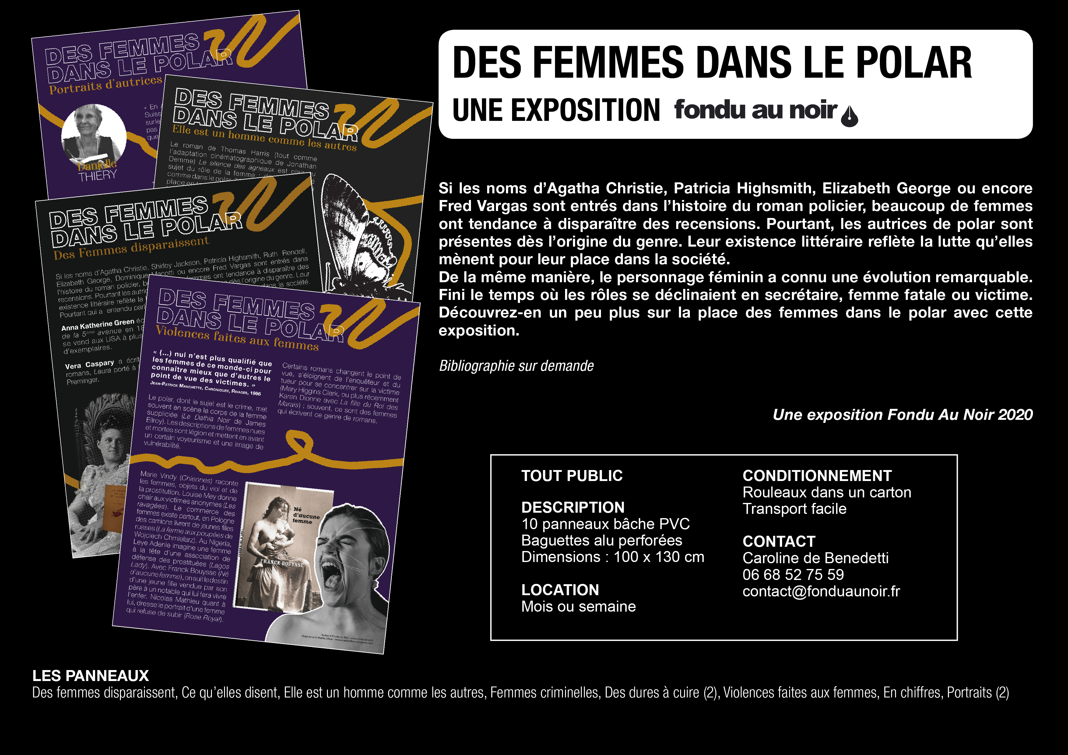Des femmes dans le polar, la nouvelle exposition Fondu Au Noir