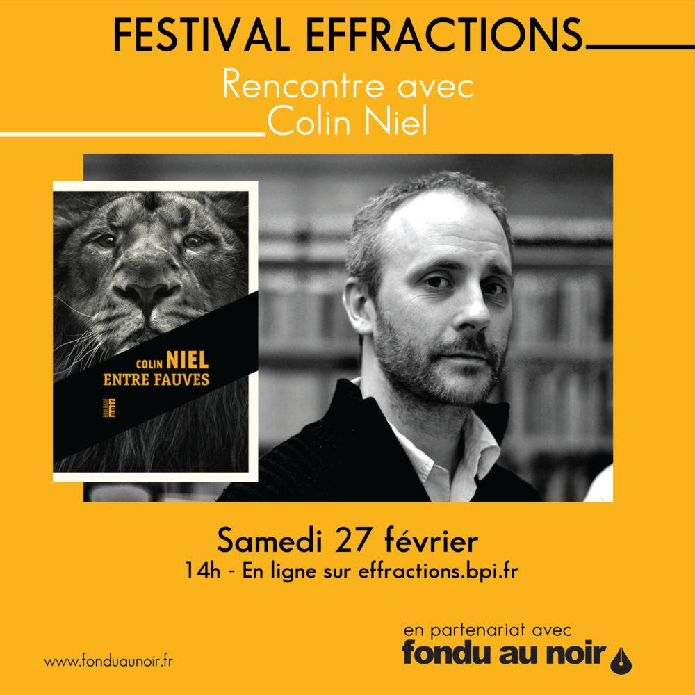 Festival Effractions et rencontre avec Colin Niel