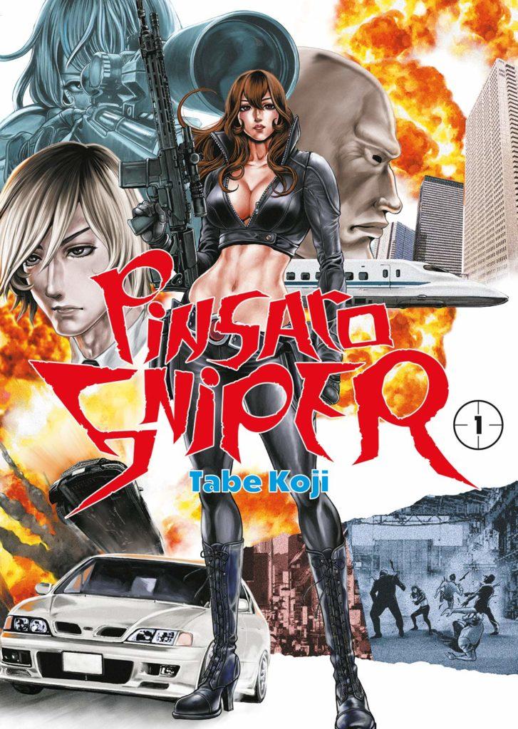 Pinsaro Sniper de Koji Tabe manga japon fondu au noir 2021