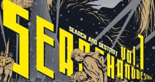 Search & Destroy de Atsushi Kaneko manga 2021 fondu au noir cyberpunk