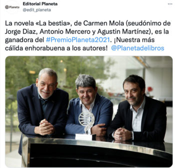 Carmen Mola succès sous pseudo